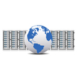 Servers and Globe Internet Network Servers vector image