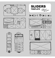 wireframe sets vector image