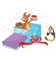 Kangaroo and penguin vector image vector image