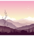 Mountain landscape with grass and tree vector image vector image