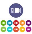 accordion set icons vector image