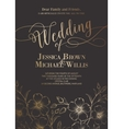 Awesome wedding invitation vector image