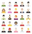 design of people avatars vector image
