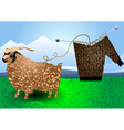 fur goat and knitting vector image