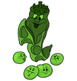 Green Pea And Beans vector image