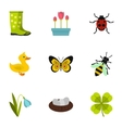 Kaleyard icons set flat style vector image
