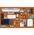 Office work equipment vector image