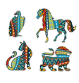Patterned Animals vector image