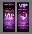 set of disco background banners vip cocktail vector image