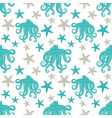 Octopus Seamless Pattern vector image