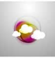 Abstract blurred colorful clouds vector image