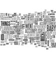 baby steps text word cloud concept vector image