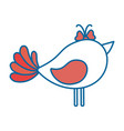 cute dove icon vector image