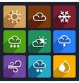 Weather flat icons set 27 vector image