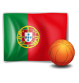A ball and the flag of Portugal vector image vector image