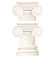 ionic column  drawing vector image vector image