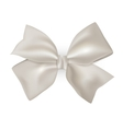 Isolated blue photorealistic silk bow for your vector image