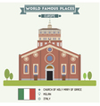 Church of Holy Mary of Grace Milan vector image vector image