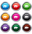 bear set 9 collection vector image