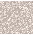 Beige floral background vector image