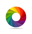 Colorful shutter aperture vector image