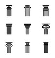 column icons set simple style vector image