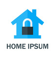 Home with Padlock Logo vector image