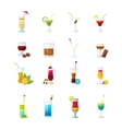 Multicolored cocktail icons set vector image