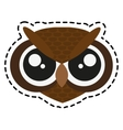 owl cartoon icon vector image