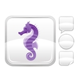 Sea summer beach and travel icon with seahorse on vector image