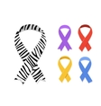 Set of awareness ribbon symbol vector image