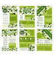 spring posters or brochures flowers bunches vector image