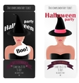Stylish ticket to the party of Halloween vector image
