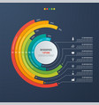 circle informative infographic design 7 options vector image