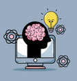knowledge education with creative tool design vector image
