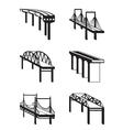 Various bridges in perspective vector image vector image