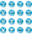 internet and computing icons vector image vector image
