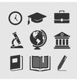 Set of symbols education vector image
