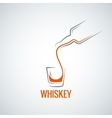 whiskey glass bottle shot splash background vector image