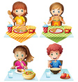 Eating food vector image vector image