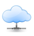 cloud network vector image