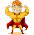 strong super hero vector image vector image