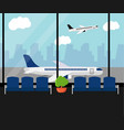 airport waiting room vector image