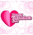 ard Happy Valentine s Day vector image