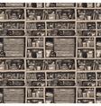 Bookcase vector image