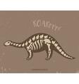 Cartoon camarasaurus dinosaur fossil vector image