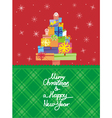 Christmas card vertical vector image