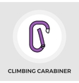 Climbing carabiner flat icon vector image