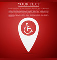 disabled handicap in map pointer invalid symbol vector image