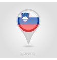 Slovenian flag pin map icon vector image